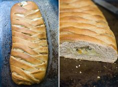 braided spinach apple and cheese bread