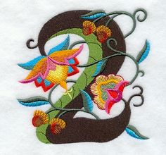 Machine Embroidery Designs at Embroidery Library! - Jacobean Number 2 (5 Inch)
