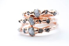 Natural Raw Diamond Engagement ring created by The Fox & Stone. The Fox & Stone specializes in raw gemstone jewelry and alternative to Diamond custom engagement rings. Raw Diamond Engagement Rings, Diamond Wedding Rings, Wedding Band, Boho Wedding, Science Jewelry, Raw Gemstone Jewelry, Traditional Engagement Rings, Thing 1, Alternative Engagement Rings