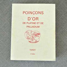 Poincons D'Or De Platine et de Palladium  Marks on by 925studio, $300.00
