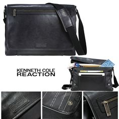 """New Kenneth Cole Reaction Compu-Messenger 16"""" Laptop / MacBook Pro Messenger Bag #KennethColeReaction #MessengerShoulderBag"""