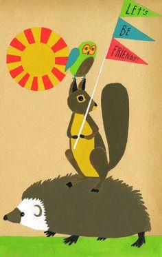 adorable illustration prints by Lisa Congdon