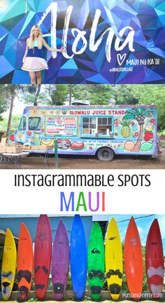 TRAVEL -The most Instagrammable places in Maui, Hawaii.  Instagram photography you can't miss on vacation!