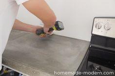 HomeMade Modern DIY EP87 Concrete Kitchen Countertops Step 19