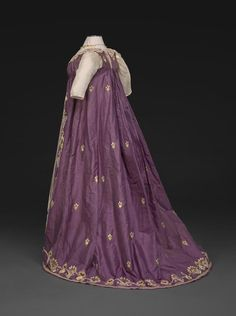 Embroidered Evening Dress  About 1798—1800