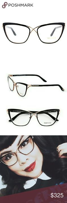 Tom Ford 5272 Crossover Cat-Eye Frames- NEW Tom Ford 5272 Crossover Cat-Eye Optical Frame; Size 53mm Iconic crossover cat-eye frame with metal front, epoxy rims, acetate temples and signature metal 'T' temple decoration. Sold out everywhere! New in Tom Ford Case (I have the papers but need to look for them because I misplaced them while taking the photos!) Tom Ford Accessories Glasses