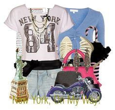 """""""New York, On My Way!!"""" by tshirtsuperstar41 ❤ liked on Polyvore featuring Red Herring, Wet Seal, H&M, Z Spoke by Zac Posen, Valentino, Linea Pelle, Olivia Collings Antique Jewelry, Diane Von Furstenberg, Betsey Johnson and Swarovski"""
