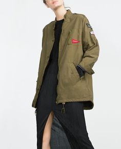 Image 2 of PATCH PARKA COAT from Zara