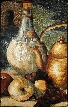 Raffinato is one of our handcrafted mosaic designs. This piece is smoothly detailed, and looks like a still life painting. The mosaic artwork really gives off a cozy, warm vibe with the imagery in it. Enjoy it in your kitchen, dining room or elsewhere in the house. It can stand alone as a mosaic piece on the wall. Take a leap with Mozaico to have luxury and style ornamenting your homes at unimaginable prices! Grace your holiday table for Thanksgiving with the Raffinato mosaic kitchen…
