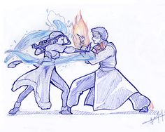 Katara Discover Zutara Fight by zarrah-chan on DeviantArt Another thing I like about Zutara is: if those two got into a lovers spat the resulting bending war would be a sight for sore eyes. (ZOMG I managed to draw something resembling a background. Avatar Aang, Avatar Airbender, Zuko And Katara, Team Avatar, Korrasami, Avatar Couple, Fanart, Cartoon Shows, Legend Of Korra