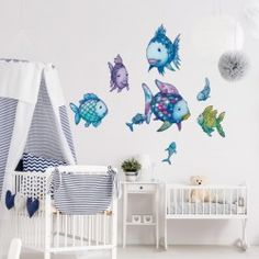 The Rainbow Fish - Underwater Paradise Sticker Set wall decal, sticker in different sizes