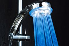 LED Colour-Changing Shower Head