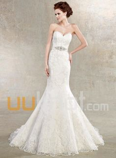 Simple Wedding Dress, Brilliant Satin&Tulle Mermaid Sweetheart Neckline Natural Waistline Wedding Dress, Shop fit and flare dresses that match your bridal style featuring the latests trends. Find the perfect one for you! Wedding Dress 2013, Sweetheart Wedding Dress, Wedding Dress Styles, Mermaid Wedding, Bridal Dresses, Wedding Gowns, Bridesmaid Dresses, Mermaid Sweetheart, Wedding Attire