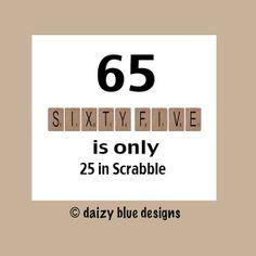 65th Birthday Card 65th Birthday Milestone by DaizyBlueDesigns, $4.00