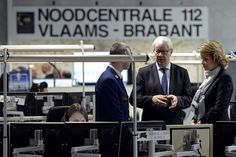 Queen Mathilde and King Philippe visits Emergency Call Centre