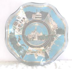Disneyland Candy Dish 70's Fluted Disney Tomorrow Frontier Castle Small World #Disney