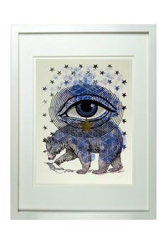 Cosmic Bear Framed Print by United Strangers on @HauteLook