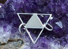 Triangle Pendant, Open Triangle Link, Small Triangle Charm, Sterling Silver Triangle Link Charm, Sterling Silver Triangle, Small