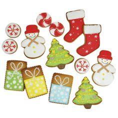 Christmas Royal Icing Cookie Ideas via www.redtedart.com