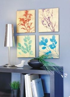 Spray paint DIY leaf art   http://thegardeningcook.com/easy-diy-craft-projects/