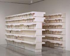 Rachel Whiteread #bookshelf #sculpture