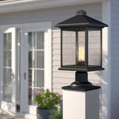 It's surprising! Read these 16 good ideas all relating to Lantern Post, Led Lantern, Lanterns, Pillar Lights, Patio Wall, Light Beam, Farmhouse Lighting, Glass Texture, Glass Shades