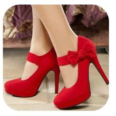 Hell on heels! ❤ #red #heels