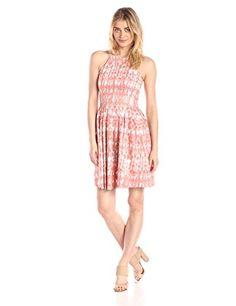 Calvin Klein Women's Halter Neck Printed Fit and Flare Dress Dress, Porcelain/Multi, 2 Calvin Klein http://www.amazon.com/dp/B00U4BBYPA/ref=cm_sw_r_pi_dp_wmM1vb0W2GFJ2