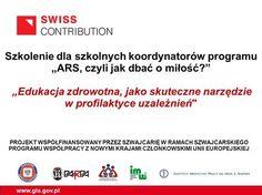 """PROJEKT WSPÓŁFINANSOWANY PRZEZ SZWAJCARIĘ W RAMACH SZWAJCARSKIEGO PROGRAMU WSPÓŁPRACY Z NOWYMI KRAJAMI CZŁONKOWSKIMI UNII EUROPEJSKIEJ www.gis.gov.pl """"Edukacja."""