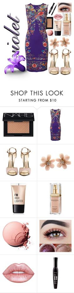 """""""my purple style"""" by cordelia-fortuna ❤ liked on Polyvore featuring NARS Cosmetics, Roberto Cavalli, Van Cleef & Arpels, Charlotte Russe, Elizabeth Arden, Lime Crime, Bourjois and Stila"""
