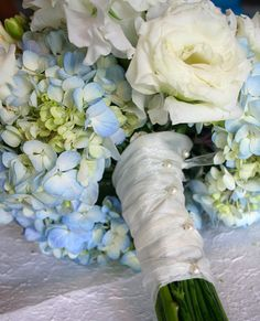 Bridal Flowers BLUE options: Hydrangea (comes in light blue and bright blue)