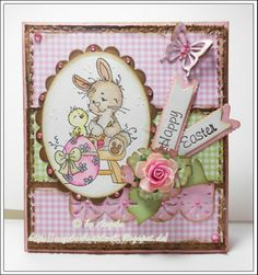 Easter Card with Easter Bunny,designed von Sylvia Zet©Wee Stamps for Whimsy Stamps