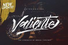 Valiente Brush (UPDATED) by Dirtyline Studio on @creativemarket
