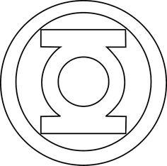 green lantern stencil symbol