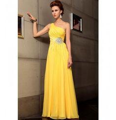 Yellow Satin Dress by Belonda