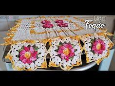 Capa de Fogão de crochê ~ 4 bocas ~ Artes da Desi - YouTube Crochet Videos, Macrame, Crochet Patterns, Blanket, Rose, Youtube, Kitchen Playsets, Crochet Poncho Patterns, Stove Hoods