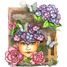 Beauty Face Rubber Stamp