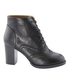 Love this Black Kenzie Oxford Bootie on #zulily! #zulilyfinds