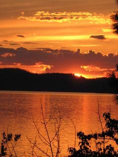 Sunset over Lake Coeur d'Alene