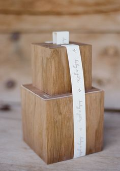wood welcome box | Lisa Vorce