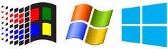 Evolution of Windows logo. Funny how all logos \