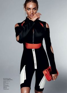 Vogue China February 2012 Candice Urban Sports