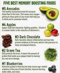 5 best memory boosting foods