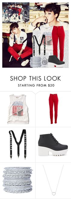 """""""BTS War of Hormone Outfit from Jimin"""" by schnpri ❤ liked on Polyvore featuring Abercrombie & Fitch, Versace Jeans Couture, Melissa, Chamak by Priya Kakkar, Tiffany & Co. and Rolex"""