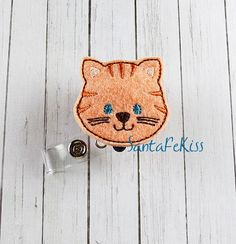 Baby Fox Felt Badge Holder with Retractable Reel. A by SantaFeKiss