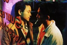 Leslie Cheung & Tony Leung in Happy Together. Both considered an icon in Chinese cinema.