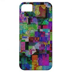 Abstract colorful paint blocks. iPhone 5 cover
