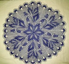 beautiful two-tone doily