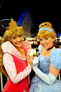 Aurora and Cinderella. BFF !!!