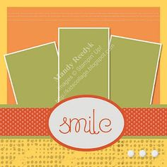 Stampin Up! SMILE 12x12 scrapbook layout  by mandy reedyk
